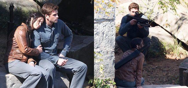 Jennifer Lawrence Muy Acaramelada Con Liam Hemsworth En El Set De