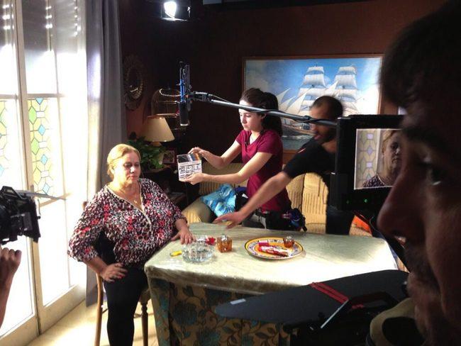 Carmina Barrios en el rodaje de 'Carmina y amén'