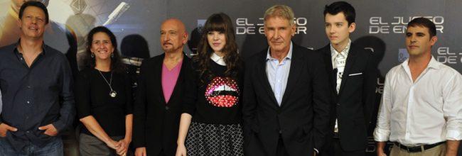 El equipo de El juego de Ender en Madrid