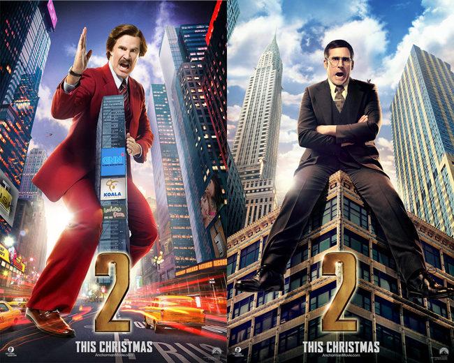 Nuevos pósters de 'Anchorman 2: The Legend Continues' con sus protagonistas