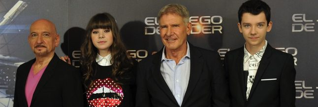 Ben Kingsley, Hailee Steinfeld, Harrison Ford y Asa Butterfield en Madrid