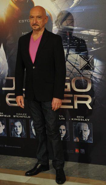 Ben Kingsley presenta El juego de Ender en Madrid