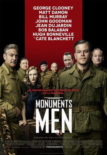 Nuevo póster de 'The Monuments Men' con George Clooney y Matt Damon a la cabeza