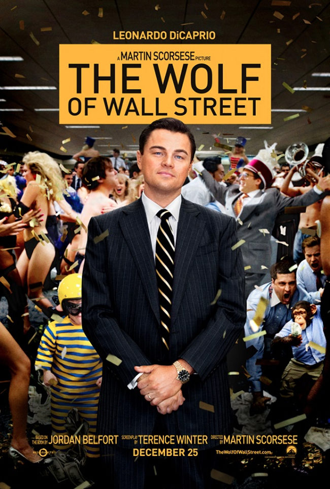 Leonardo DiCaprio se va de fiesta en los nuevos pósters de 'El lobo de Wall Street'
