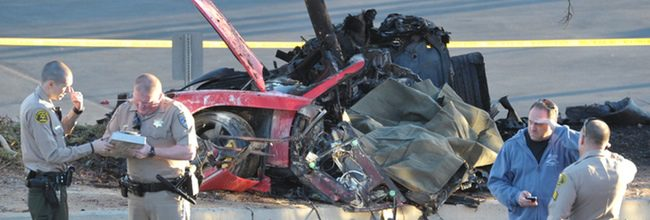 Coche accidente Paul Walker