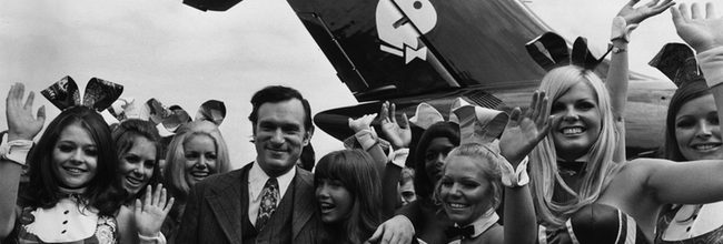 Hugh Hefner y chicas Playboy