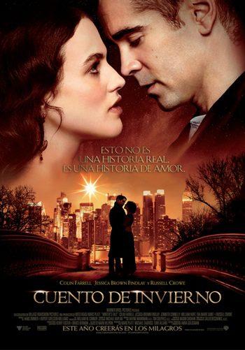 Nuevo póster de 'Cuento de invierno' con Colin Farrell y Jessica Brown Findlay