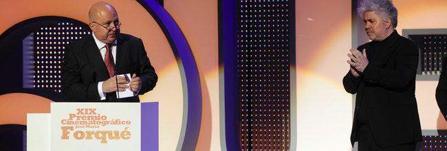 Agustín y Pedro Almodóvar en los Premios José María Forqué 2014