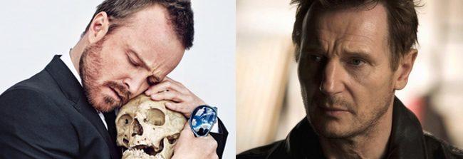 Aaron Paul y Liam Neeson