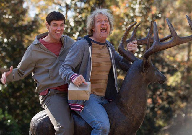 Jim Carrey y Jeff Daniels en Dos tontos muy tontos 2