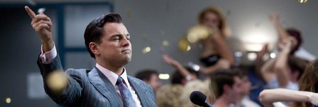 Leonardo DiCpario en 'El lobo de Wall Street'