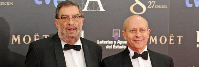 Enrique González Macho y José Ignacio Wert en los Goya 2013