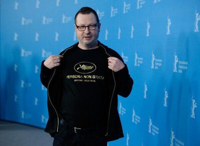 Lars Von Trier en la Berlinale con su camiseta de