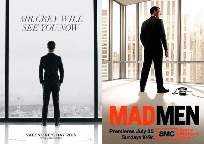 'Cincuenta sombras de Grey' - 'Mad Men'