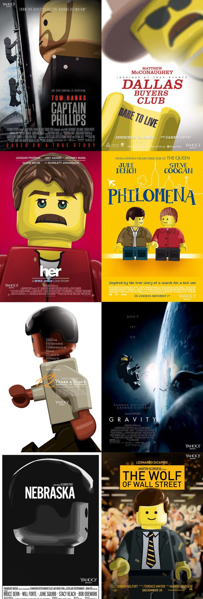 Nominadas al Oscar 2014 de mejor película en formato LEGO