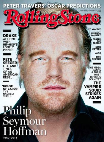La portada de Philip Seymour Hoffman en la revista Rolling Stone disgusta al cantante Drake