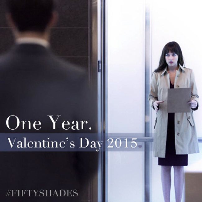 La productora de 'Cincuenta sombras de Grey' lanza un nuevo póster por San Valentín con Dakota Johnson y Jamie Dornan
