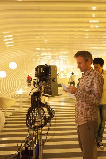 Spike Jonze en el rodaje de 'Her'