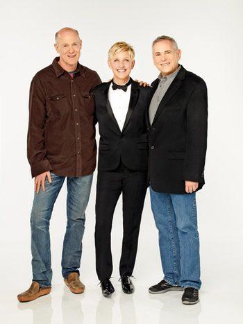 Neil Meron, Ellen DeGeneres y Craig Zadan