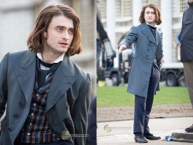Daniel Radcliffe en el rodaje de 'Frankenstein'