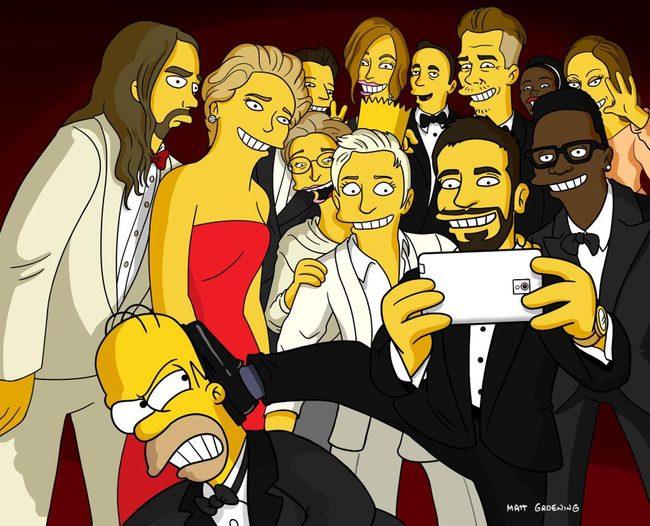 Selfie de los Oscar 2014, versión 'Los Simpson'