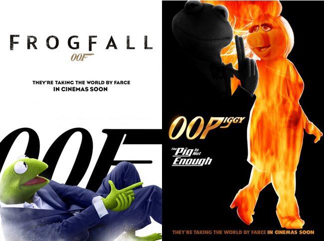 Poster James Bond 'El Tour de los Muppets'