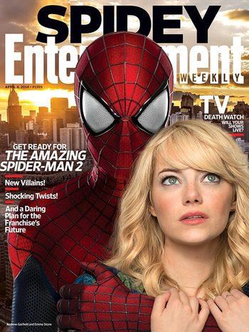 Entertainment Weekly con The Amazing Spider-Man 2: El poder de Electro en portada