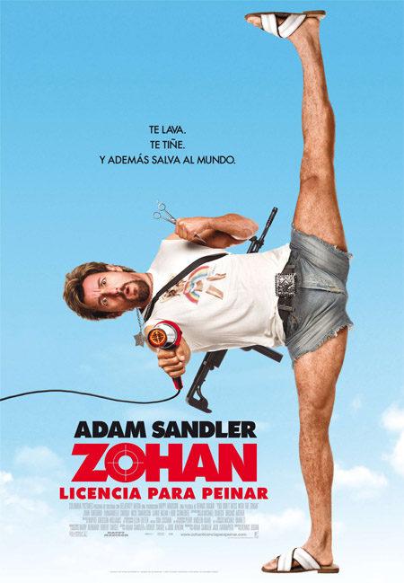 Póster en español para 'Zohan: licencia para peinar'