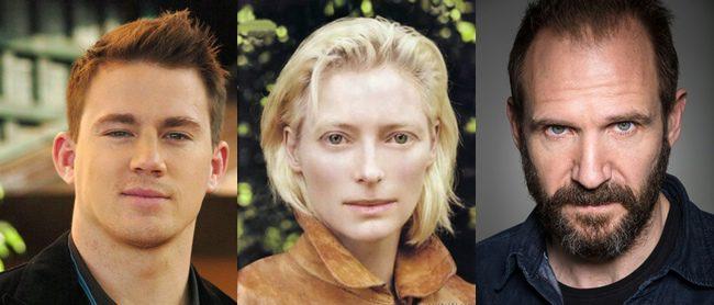 Channing Tatum, Tilda Swinton y Ralph Fiennes