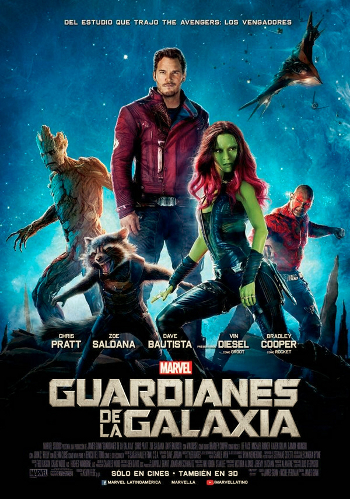 Censuradas las armas en el póster final de 'Guardianes de la Galaxia' de América Latina