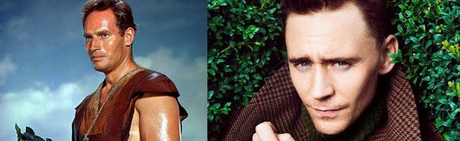 Charlton Heston y Tom Hiddleston