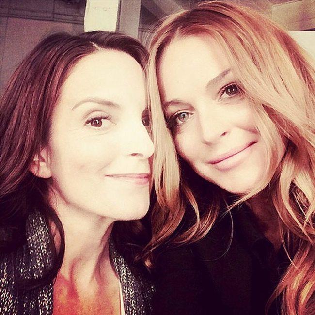 Tina Fey y Lindsay Lohan