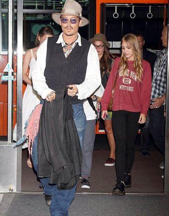 Johnny Depp y Lily-Rose