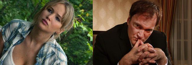 Jennifer Lawrence y Quentin Tarantino