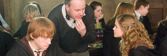 Rupert Grint, David Yates y Emma Watson
