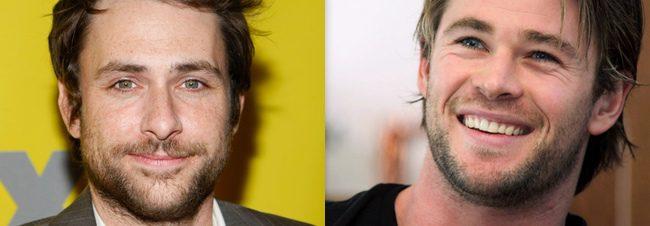 Charlie Day y Chris Hemsworth