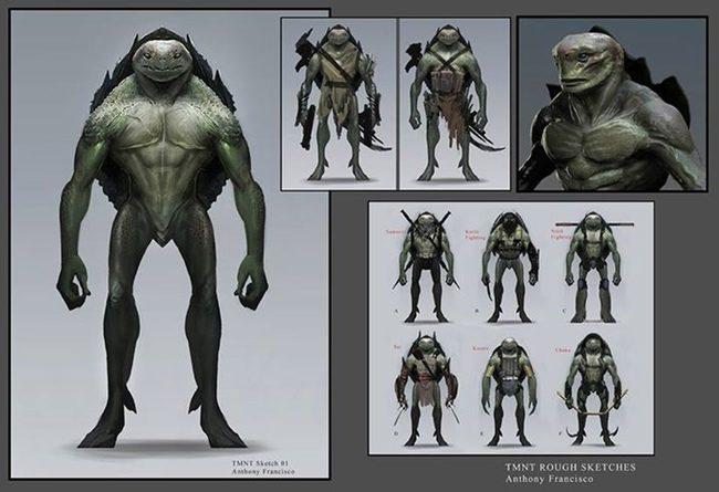 Concept arts de Ninja Turtles