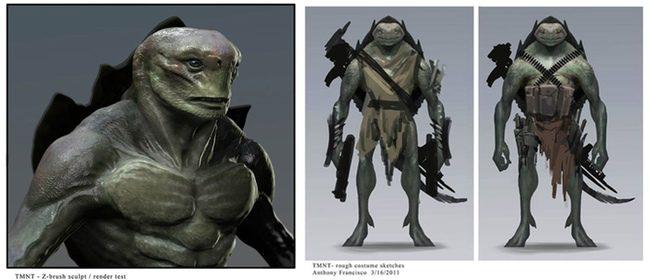 Concept art de Ninja Turtles