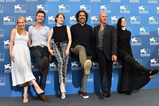 El equipo de 'Birdman' en la 71 Mostra de Venecia