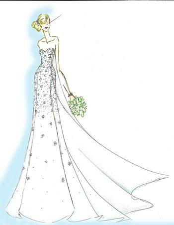 Vestido de novia inspirado en Frozen: El reino de hielo