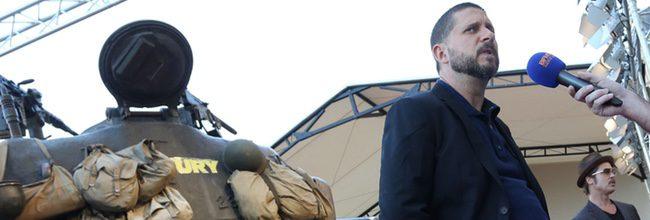 David Ayer en la premiere de 'Corazones de acero' en París