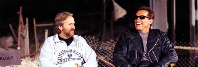 James Cameron con Schwarzenegger