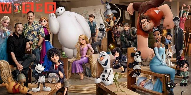 Portada de Wired dedicada a Walt Disney Animation Studios