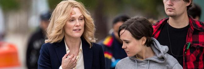 Julianne Moore y Ellen Page en el rodaje de Freeheld
