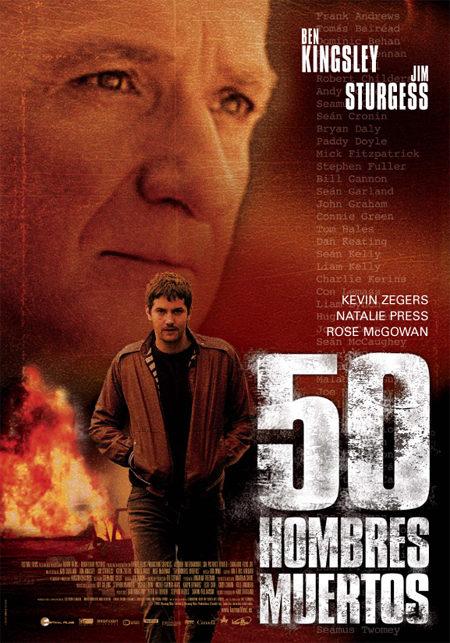Cartel en castellano de '50 hombres muertos'