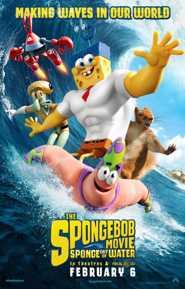 Poster Bob Esponja un héroe fuera del agua