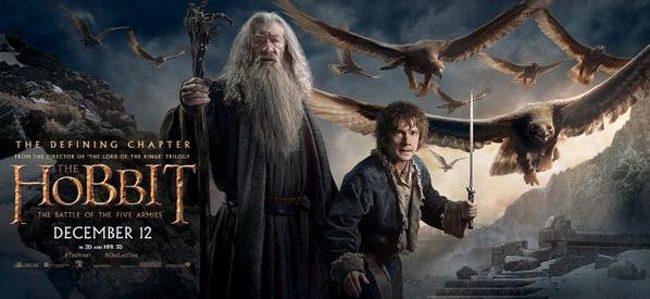 Bilbo y Gandalf protagonizan este nuevo póster de 'El Hobbit: La batalla de los cinco ejércitos'