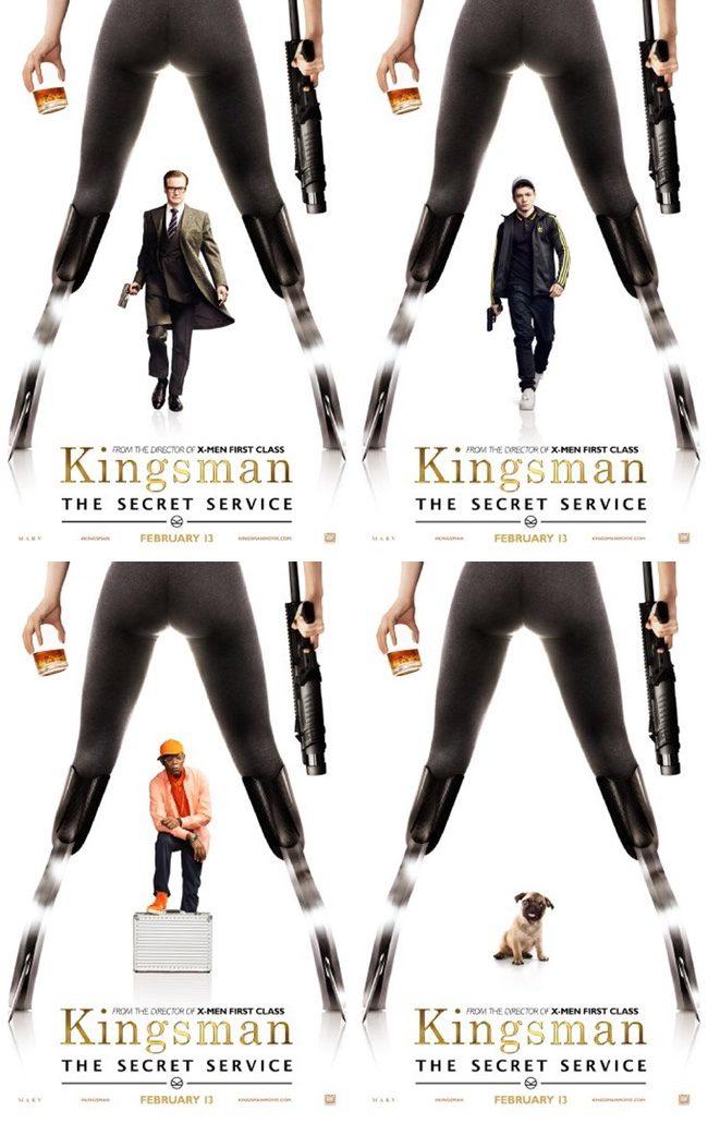 Colin Firth, Taron Egerton  y Samuel L. Jackson protagonizan los nuevos pósters de 'Kingsman: Servicio Secreto'