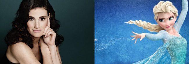 Idina Menzel es la voz de Elsa en 'Frozen: El reino de hielo'