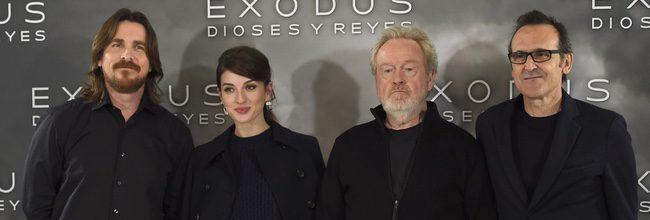 Christian Bale, María Valverde, Ridley Scott y Alberto Iglesias en Madrid